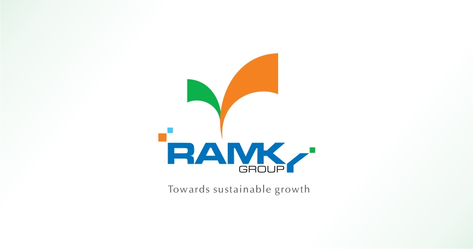INFRASTRUCTURE LOGO DESIGN HYDERABAD - RAMKY GROUP - WWW.IDEALDESIGNS.I