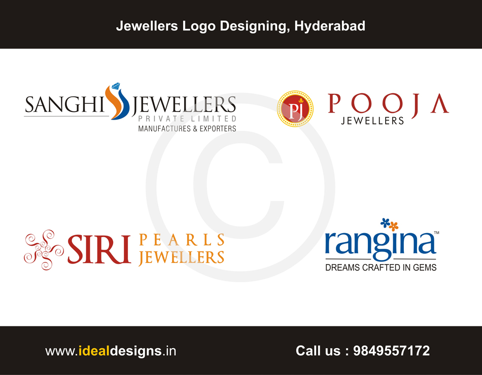 Jewellers Logo Designing Hyderabad, Jewelry logo design hyderabad, india, jewelry design logos hyderabad, india, jewelry designs logo - www.idealdesigns.in