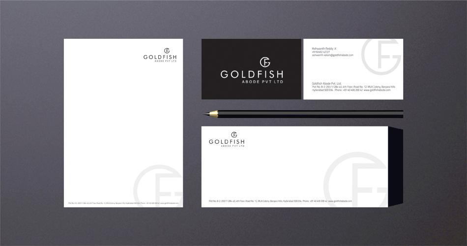 Logo-Design-bangalore-Hyderabad-stationery-gold-fish-logo-design--www.idealdesigns.in