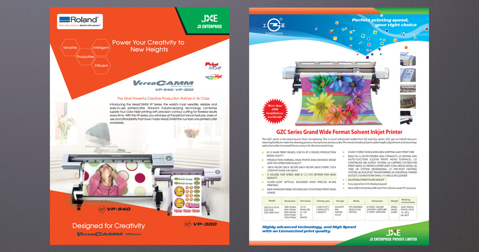 Flyer Design Hyderabad, Flyer printing Hyderabad, Flyer design and printing services Hyderabad, India-JX Enterprises-www.idealdesigns.in