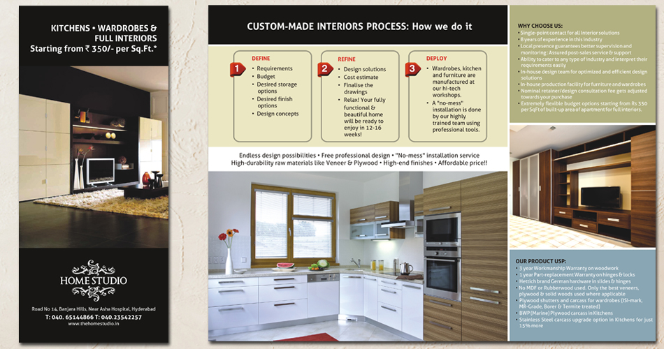 Home Studio Corporate Brochure Design Bangalore Hyderabad Vizag India