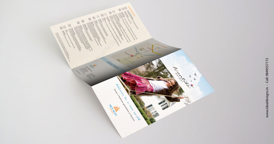 Real Estate Brochure Design Hyderabad, Real Estate Brochure Design & Printing Hyderabad, Leaflet Design & Printing Hyderabad, Vijayawada, Vizag, India