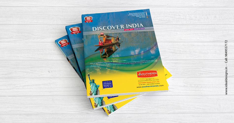 travel brochure design hyderabad, India, the best travel company brochure Bangalore - idealdesigns