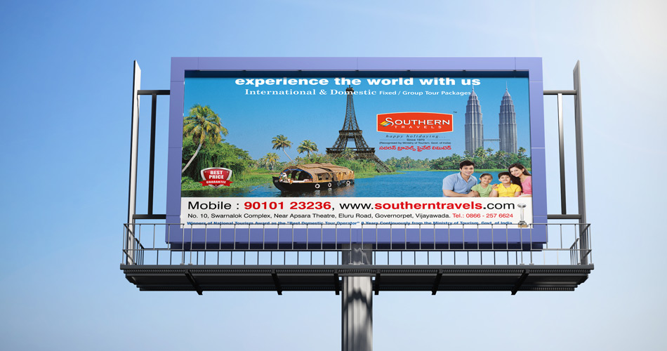 southern-travels-india---tourism-hoarding-design-hyderabad,-poster-design-hyderabad,-india