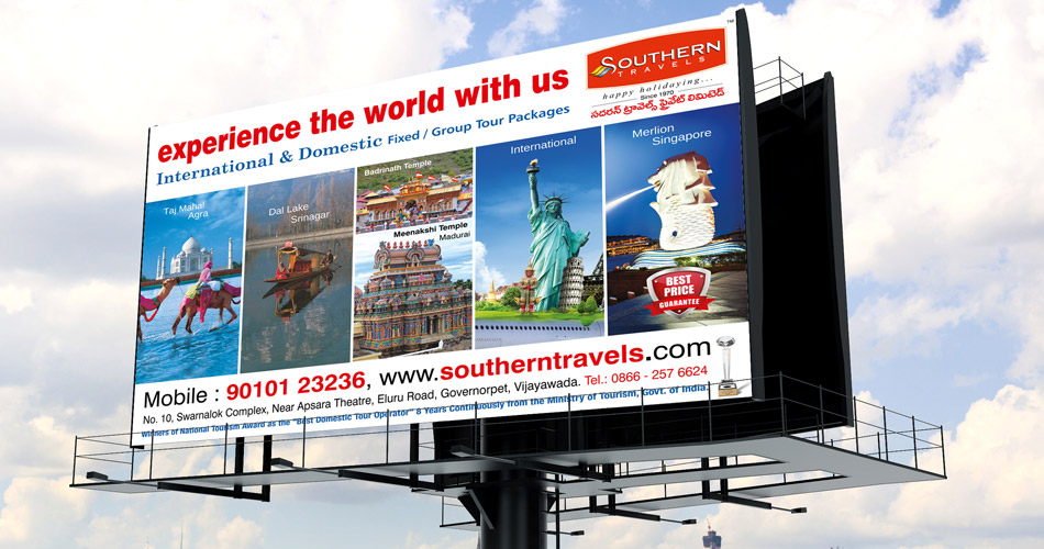 Travel hoarding design hyderabad, Corporate hoarding design, Complete Branding Agency Bangalore