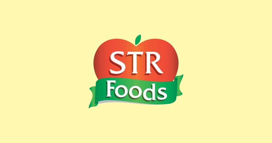 foods logo design, Food & Drink Restaurant Logo design Hyderabad, pickles logo and label design hyderabad - STR foods - 9949645564, 9849557172 - www.idealdesigns.in