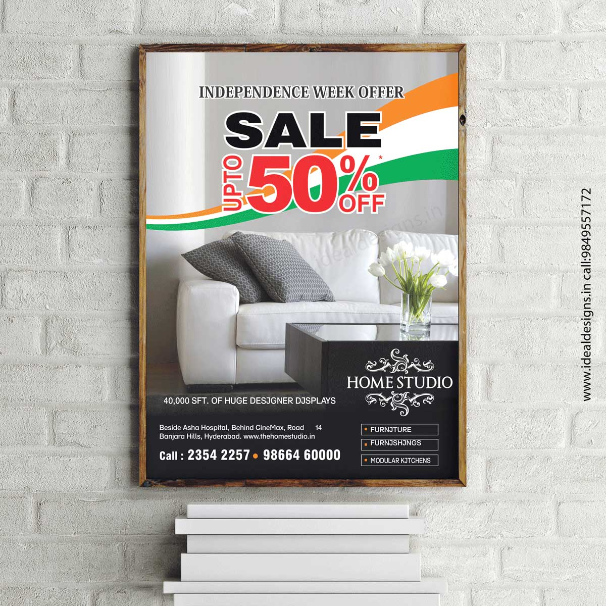 Furniture showroom Poster Design, Poster and Flyer Design india, Graphic Design company in hyderabad – homestudio