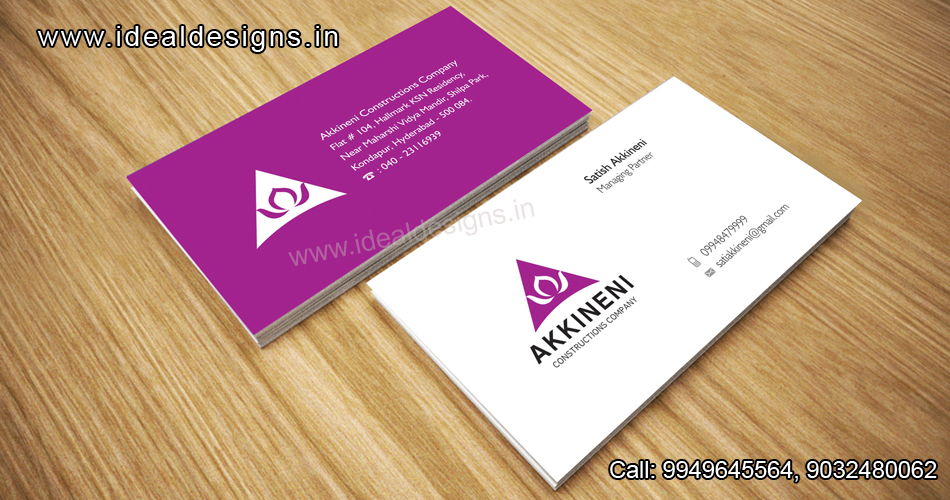 Construction company Logo & Stationery Design India, Construction company branding India-Akkineni constructions