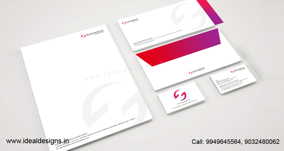 consulting company logo & stationery design india & malasia, IT consulting company brand design india, USA - sahasya