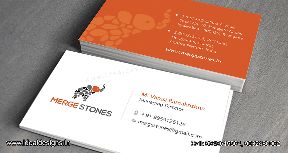 granites logo & stationery design hyderabad, India, Granite & Marble company Logo , stationery Design india - merge Stones