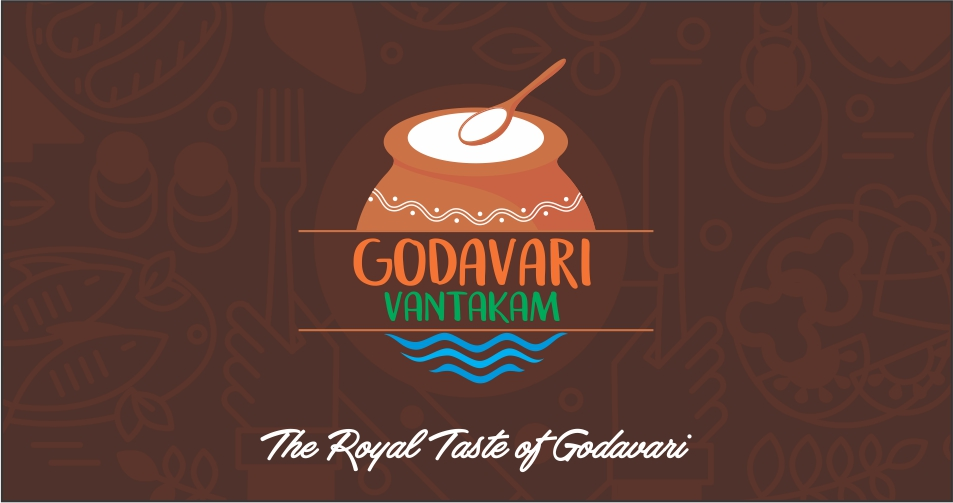 food logo design hyderabad, restaurant logo design India, best logo designs - Godavari Vantakam