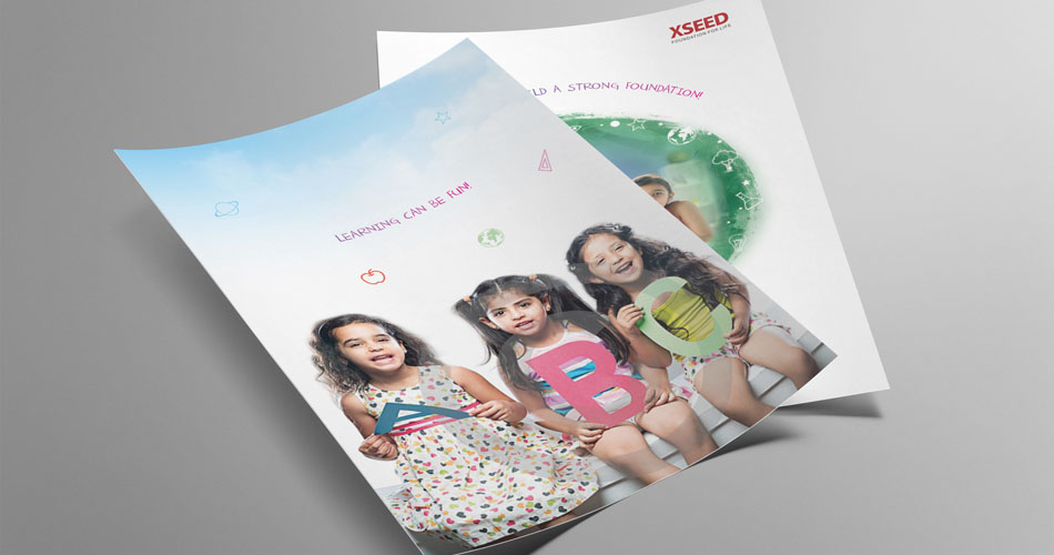Flyer design hyderabad, school branding flyers design, leaflet design branding