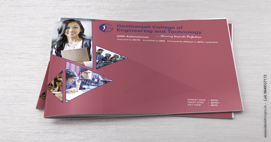 Engineering college brochure design bangalore, hyderabad, India - Geethanjali College of Engineering & Technology