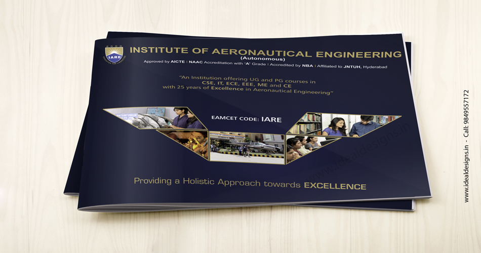 engineering college brochure design India, aeronautical engineering college brochure design Bangalore, Hyderabad, placement brochure design India