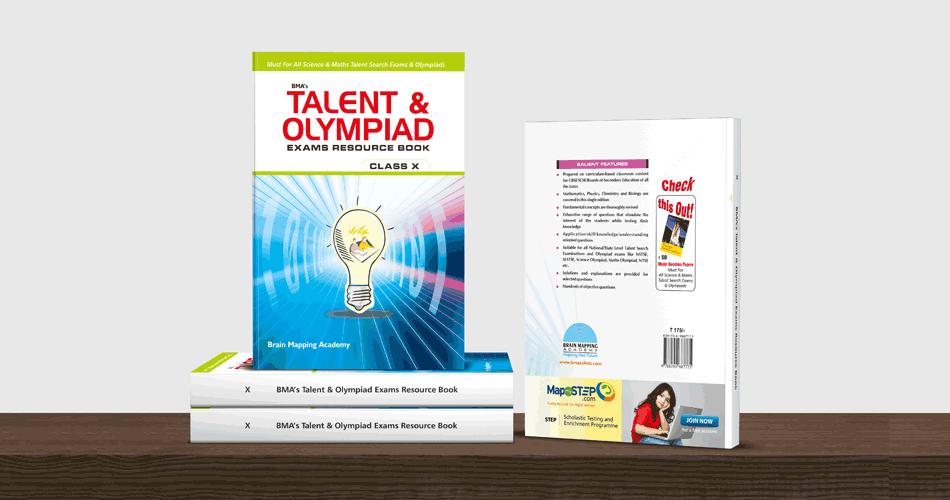 Book Cover Layout Bangalore : Talent olympiad exam resource books logo design