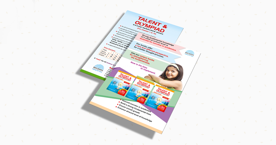 talent-olympiad-books-design-hyderabad, india, exam oriented books design, leaflet design, school website design pamphlet design, story books design