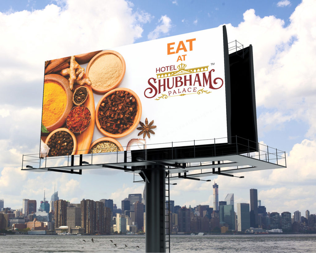 hotel hoardings design, restaurant signages design, lollipops design -eat-at-shubham palace-2